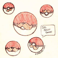Mustached Pokeballs by stefania-zee