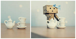 Danbo tea party by BeciAnne