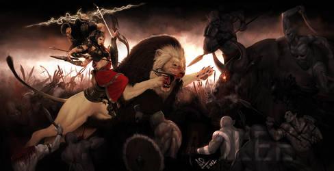 Durga-Goddess of War by molee