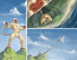 Hanuman flies by molee