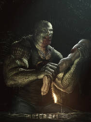 Waylon Jones aka Killer Croc by molee