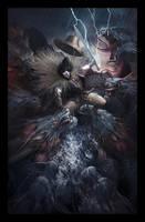 Susanoo vs Orochi by molee