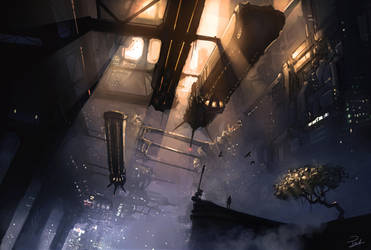 The city never sleeps by Powl96