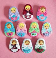 Matryoshka Russian Dolls by OkashiBurochi