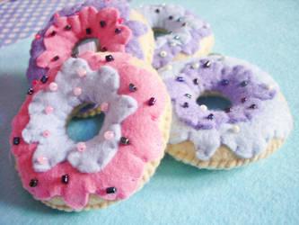 Pastel Goth Donuts Fairy Kei Dark and Cute by OkashiBurochi