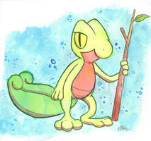 Treecko by The-EverLasting-Ash