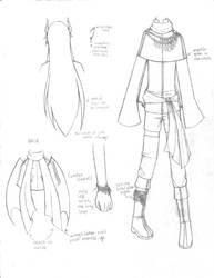 [Ring of Fates] Clothing Design Sheet - Violen by hikarihikalight