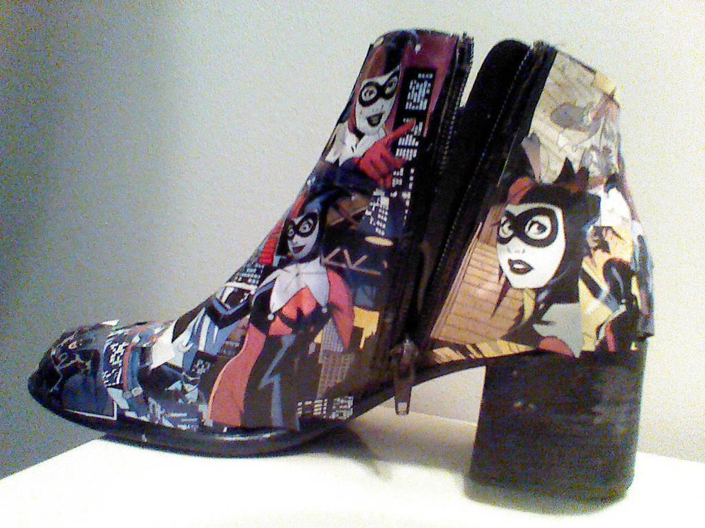 9db338d849fb Harley Quinn shoe side 1 by glorifield on DeviantArt