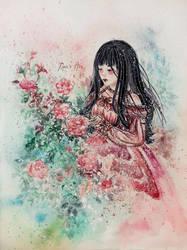 Rose Girl by Reraartist
