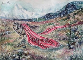 The wolf by Reraartist