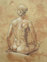 seated nude by AinsleyM