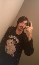Me in my Fluttershy Shirt by goukai