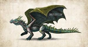 Crocodile Dragon Concept Commission by EmilyStepp