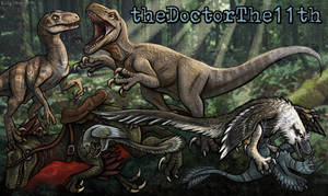 Raptor Mashup Channel Art Commission by EmilyStepp
