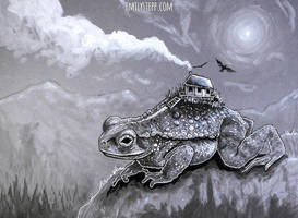 Inktober 2017 Gigantic - House Toad by EmilyStepp