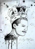 Freddie Mercury Sketch by EmilyStepp