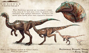 The Isle Gallimimus Growth Fan Concept by EmilyStepp