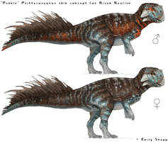Pebble Psittacosaurus Skin Concept by EmilyStepp