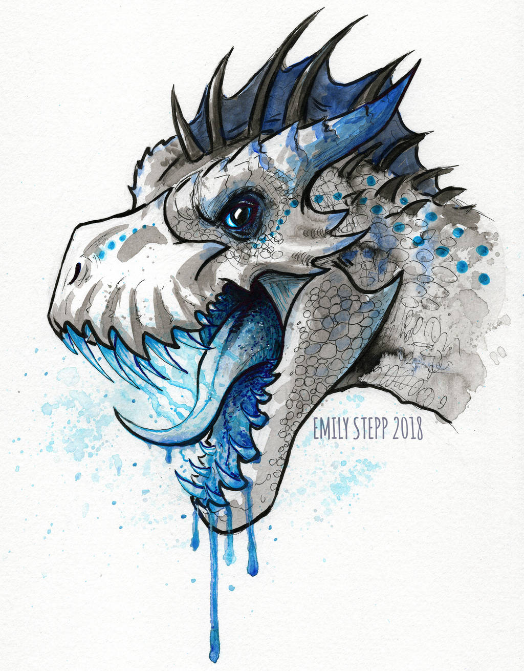 Inktober 2018 Day 6 Drooling by EmilyStepp