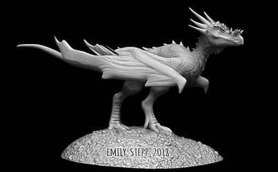 Dracorex hogwartsia Wyvern Sculpt by EmilyStepp