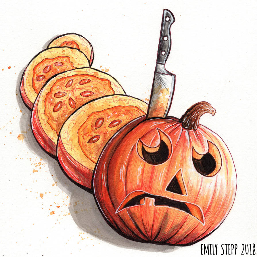 Inktober 2018 Day 31 Slice by EmilyStepp