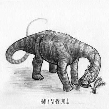 DrawDinovember Day 3 Nigersaurus by EmilyStepp