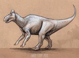 DrawDinovember Day 9 Edmontosaurus by EmilyStepp