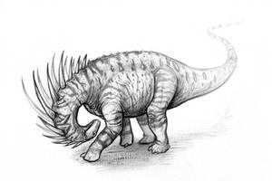 DrawDinovember Day 10 Amargasaurus by EmilyStepp