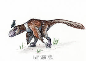 DrawDinovember Day 16 Utahraptor by EmilyStepp