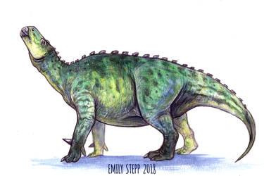 DrawDinovember Day 17 Iguanodon by EmilyStepp