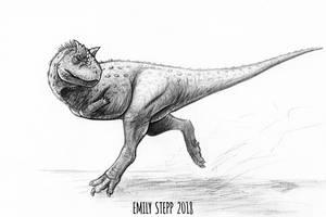DrawDinovember Day 19 Carnotaurus by EmilyStepp