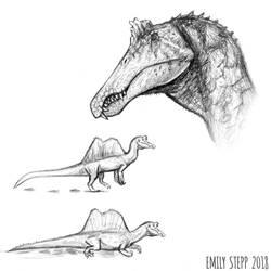 DrawDinovember Day 25 Spinosaurus by EmilyStepp