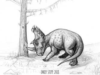 DrawDinovember Day 27 Centrosaurus by EmilyStepp