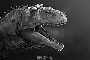 DrawDinovember Day 29 Giganotosaurus by EmilyStepp