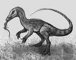 DrawDinovember Day 30 Compsognathus by EmilyStepp