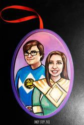 Power Rangers Couple Portrait Ornament by EmilyStepp