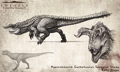 Hyperendocrin Carnotaurus Study by EmilyStepp