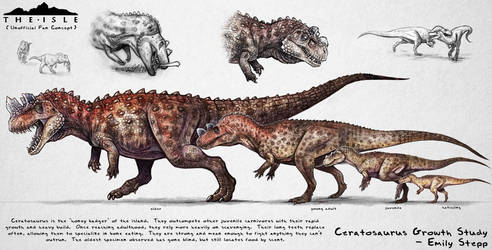 The Isle Ceratosaurus Growth Fan Concept by EmilyStepp