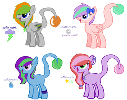 Tailight Ponies Batch #1  CLOSED  by MadWhovianWithABox