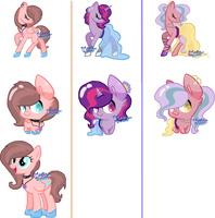 Accessory Ponies Batch| CLOSED by MadWhovianWithABox