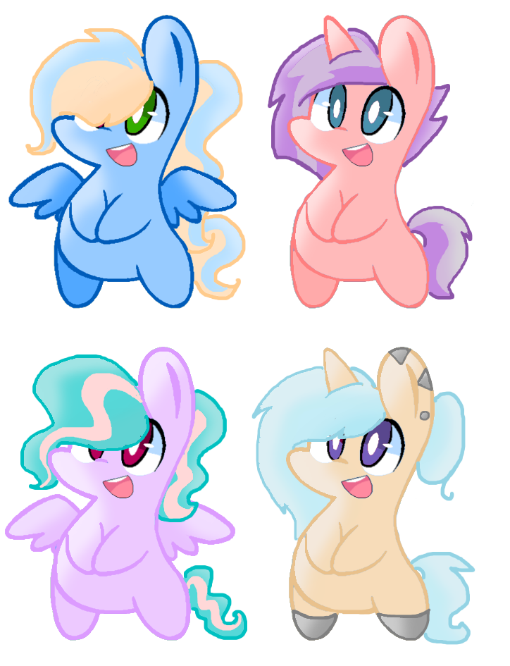 Chibi MLP Adopts|5 Points|CLOSED| by MadWhovianWithABox