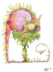 Sleepy Smallish Dragon by ABayShindel