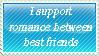 Romance between best friends - Stamp by Jojodear