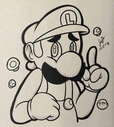 Inktober Day 8: Luigi by Jojodear
