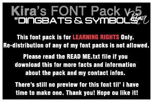 .::Fonts v.5::. Dingbats, Symb by winterbrahma