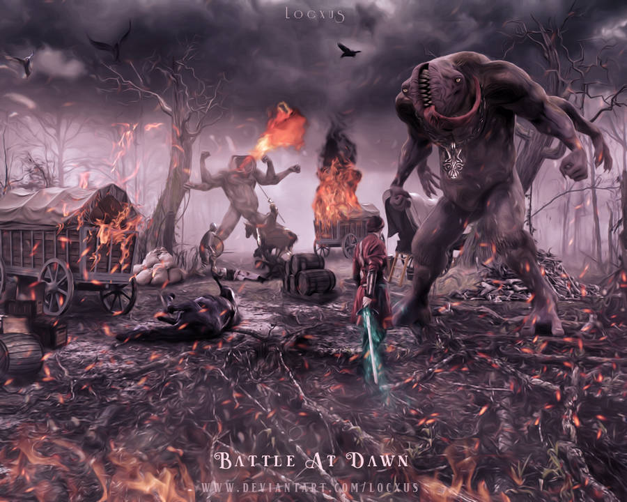 Battle At Dawn by Locxus