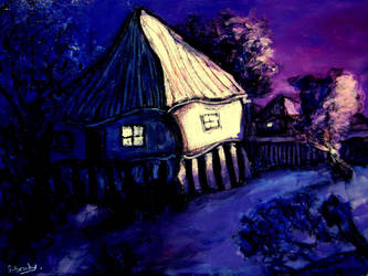 brisbane house on dusk by glenox66