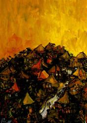 brisbane hill on sunet by glenox66
