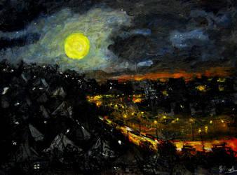 brisbane full moon 2.. by glenox66