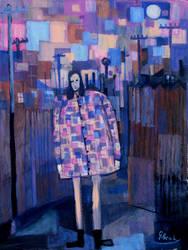 girl in a alleyway  90cmx70cm by glenox66